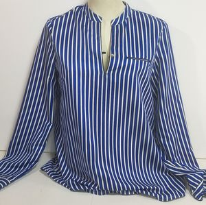 Tommy Hilfiger Blue & White Stripped Blouse